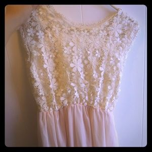 Pink/Beige floral dress